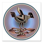 Mimbres Cream Quail Square Car Magnet 3