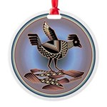 Mimbres Cream Quail Round Ornament