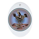 Mimbres Cream Quail Ornament (Oval)