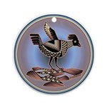 Mimbres Cream Quail Ornament (Round)