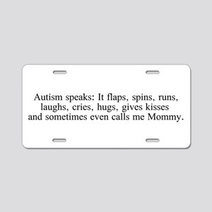 Autism speaks: It flaps, spins, runs, laughs, crie