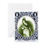 Vintage 1954 Guatemala Quetzal Postage Stamp Greet