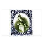 Vintage 1954 Guatemala Quetzal Postage Stamp Postc