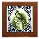 Vintage 1954 Guatemala Quetzal Postage Stamp Frame