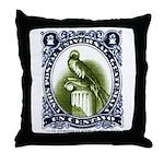 Vintage 1954 Guatemala Quetzal Postage Stamp Throw