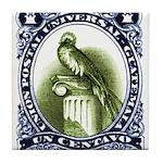 Vintage 1954 Guatemala Quetzal Postage Stamp Tile