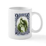 Vintage 1954 Guatemala Quetzal Postage Stamp Mug