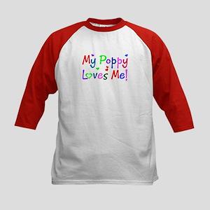 My Poppy Loves Me (des. #1) Kids Baseball Jersey