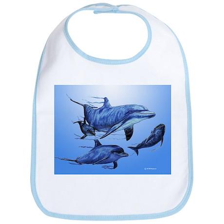 Dolphin Family Bib