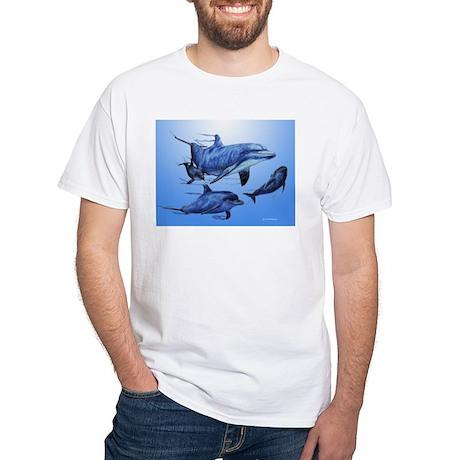 Dolphin Family White T-Shirt