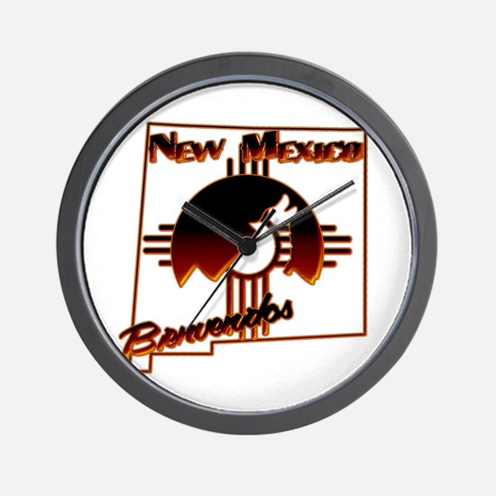 NM Coyote Silhouette Wall Clock