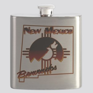 NM Coyote Silhouette Flask