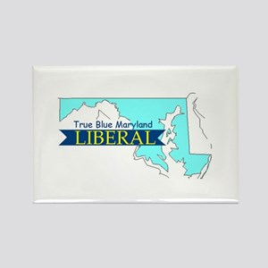 True Blue Maryland LIBERAL Rectangle Magnet