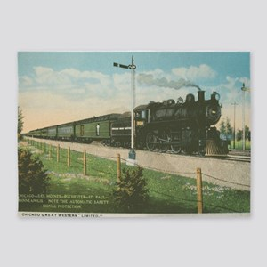 Chicago Great Western 1910 5'x7'Area Rug