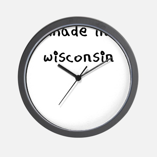 made in wisconsin Wall Clock