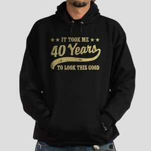 Funny 40th Birthday Hoodie (dark)