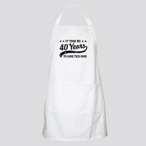 Funny 40th Birthday Apron