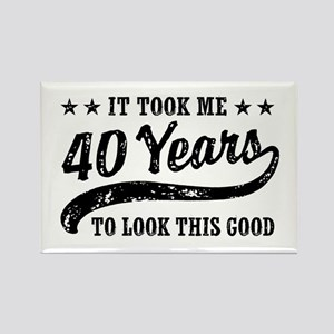 Funny 40th Birthday Rectangle Magnet
