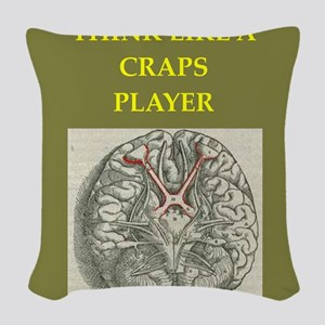craps Woven Throw Pillow