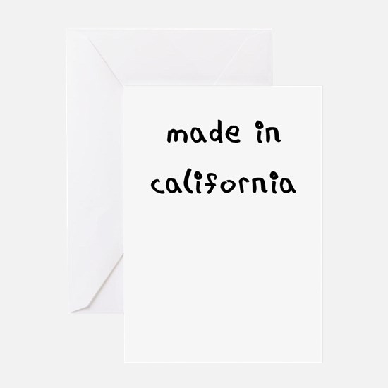 made in california Greeting Card