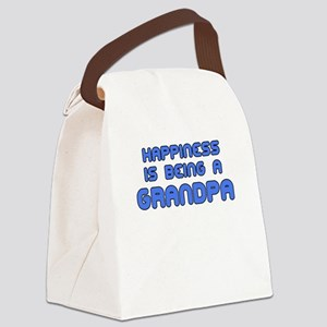 happiness is being a grandpa Canvas Lunch Bag