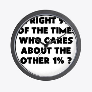 Im Right 99% of the time Wall Clock