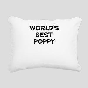 Worlds Best Poppy Rectangular Canvas Pillow