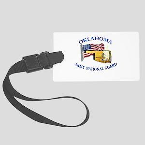Army National Guard - OKLAHOMA w Flag Large Luggag