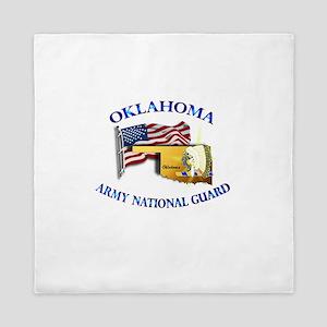 Army National Guard - OKLAHOMA w Flag Queen Duvet