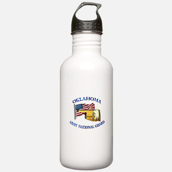 Army National Guard - OKLAHOMA w Flag Water Bottle