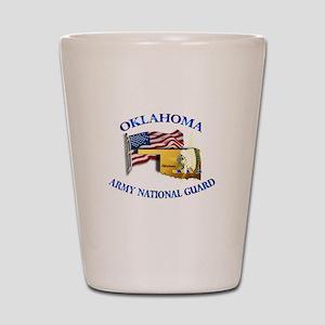 Army National Guard - OKLAHOMA w Flag Shot Glass