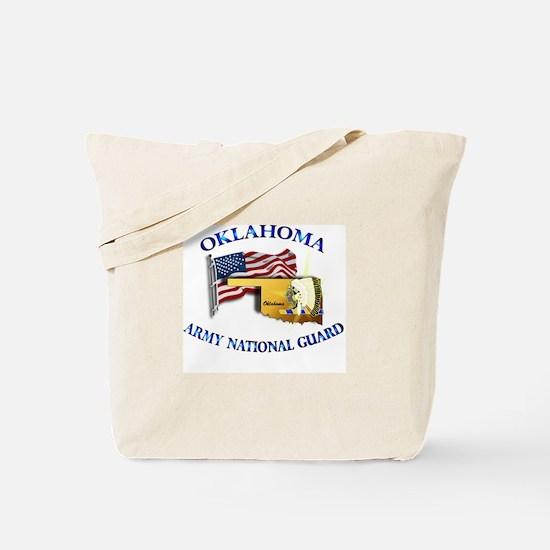 Army National Guard - OKLAHOMA w Flag Tote Bag