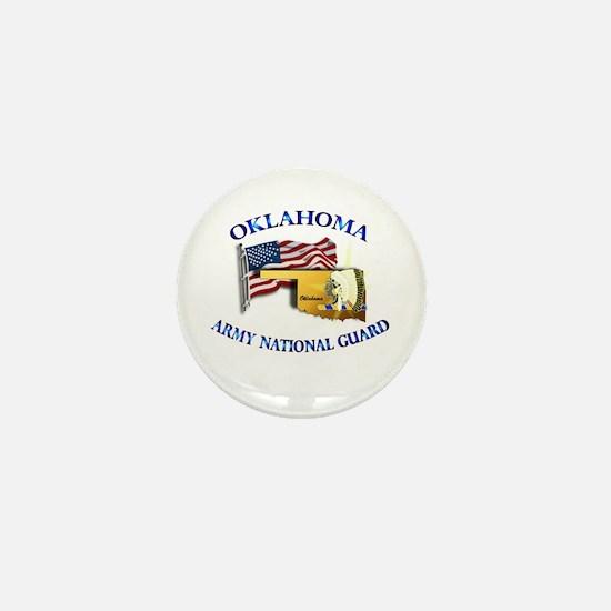 Army National Guard - OKLAHOMA w Flag Mini Button
