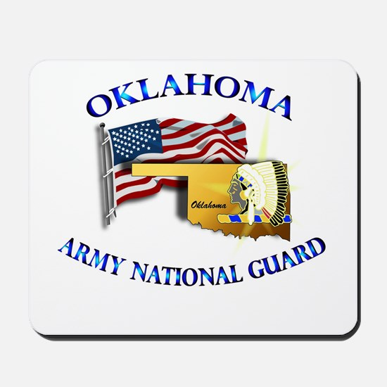 Army National Guard - OKLAHOMA w Flag Mousepad