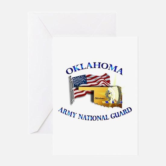 Army National Guard - OKLAHOMA w Flag Greeting Car