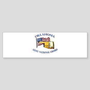 Army National Guard - OKLAHOMA w Flag Sticker (Bum