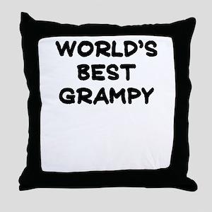 Worlds Best Grampy Throw Pillow