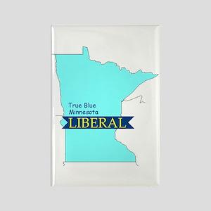 True Blue Minnesota LIBERAL Rectangle Magnet