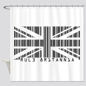 Rule Britannia barcode Shower Curtain