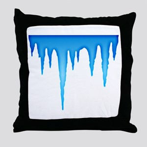 Hanging Icicles Throw Pillow