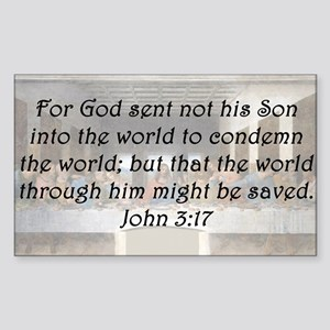 John 3:17 Sticker