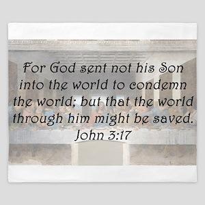John 3:17 King Duvet
