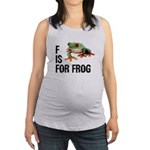 f-is-for-frog-10x10 Maternity Tank Top