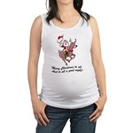 FIN-merry-christmas-to-all Maternity Tank Top