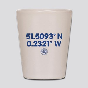 Queens Park Rangers Coordinates Shot Glass