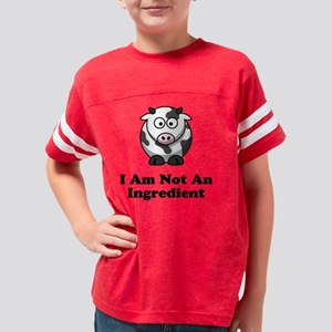 Not Ingredient Cow Black Youth Football Shirt