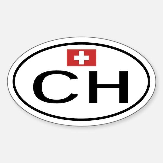 Switzerland Oval Decal