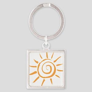 Spiral Sun Keychains