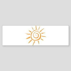 Spiral Sun Bumper Sticker