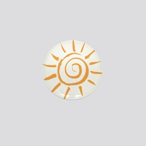 Spiral Sun Mini Button